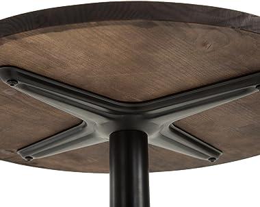 """HOMCOM 42"""" H Rustic Industrial Metal Elm Wood Top Bar Height Standing Pub Table"""