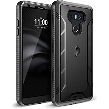 LG G6 Rugged Case, LG G6 Plus Rugged Case Poetic Revolution [360 Degree Protection] [Built-in-Screen Protector] Full-Body Rugged Heavy Duty Case for LG G6 /G6 Plus (2017) - Black