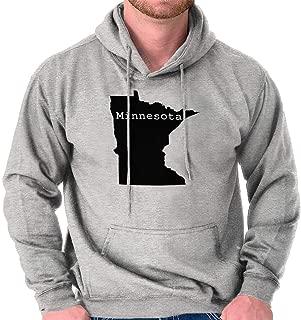 Classic Teaze Minnesota State Map Shape Souvenir MN Pride Hoodie