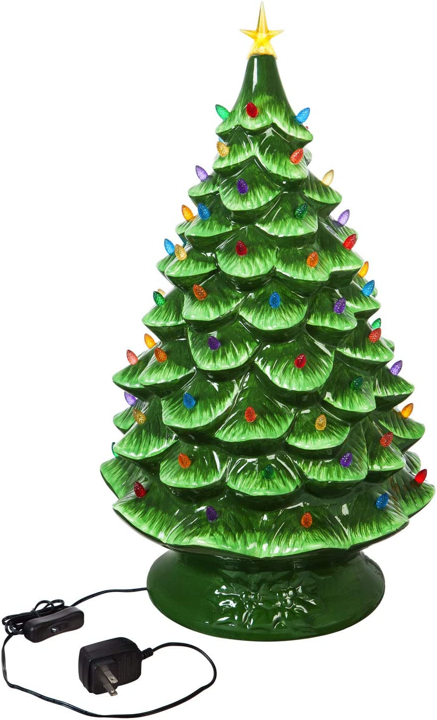 Cypress Home Beautiful Christmas Plug Max 85% OFF in NEW before selling ☆ Ceramic Tree