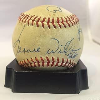 1988 Bernie Williams Pre Rookie Signed Game Used Minor League Baseball COA - JSA Certified - MLB Game Used Baseballs