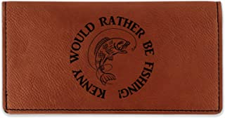 Fish Leatherette Checkbook Holder - Single Sided (Personalized)