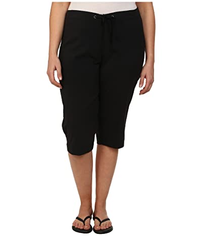 Columbia Plus Size Anytime Outdoortm Capri (Black) Women