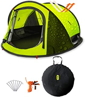 Camping Tent, Zenph 2-3 Persons Family Pop Up Tent, 3 Seconds Automatic Opening Waterproof Sun Shelter, Automatic Instant ...