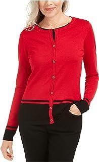 KAREN SCOTT Womens Black Printed Long Sleeve Jewel Neck T-Shirt Evening Top Petites US Size: PM