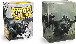 Dragon Shield Bundle: Matte Mist 100 Count Standard Size Deck Protector Sleeves + Mist Dashat Deck Shell