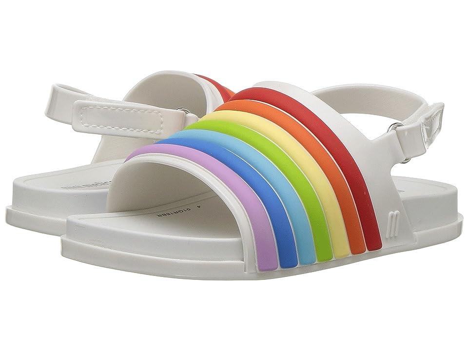 Mini Melissa Mini Beach Slide Sandal Rainbow (Toddler/Little Kid) (White Colorful) Girl