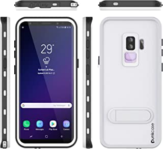 Galaxy S9 Plus Waterproof Case, Punkcase [KickStud Series] [Slim Fit] [IP68 Certified] [Shockproof] [Snowproof] Armor Cover W/Built-in Kickstand + Screen Protector for Samsung Galaxy S9+ [White]