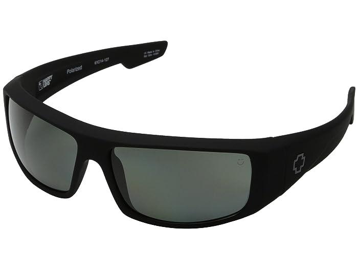 Spy Optic Logan (Soft Matte Black/HD Plus Gray Green Polar) Sport Sunglasses