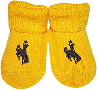 University of Wyoming Cowboys Newborn Baby Bootie Sock