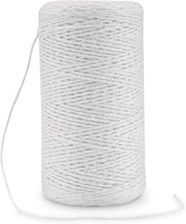 Rietlow Baumwollgarn 200m - Lebensmittelechter Küchengarn - Bindfaden zum Verschnüren, Backen oder auch Grillen - Verbesserte Küchengarn Version 2020 - Weiß
