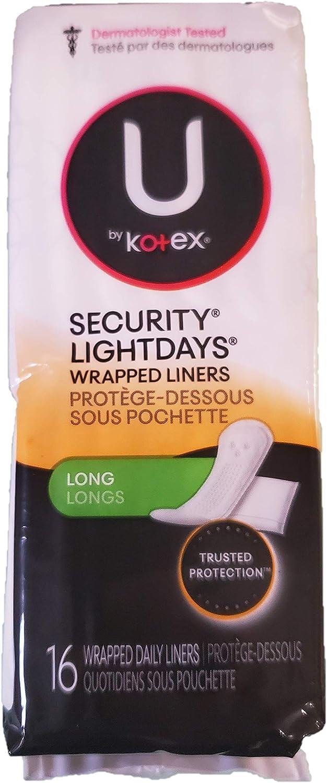Kotex Lightdays Over item handling ☆ Max 51% OFF Liner Long 16 Pack 6 of Count