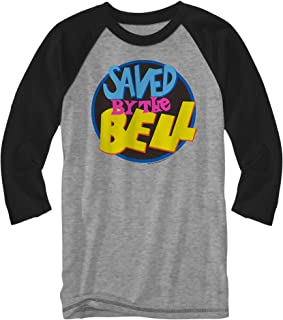 Round Logo Raglan Style 3/4 Length Sleeve Classic Retro Funny Halloween Adult Mens Graphic Shirt