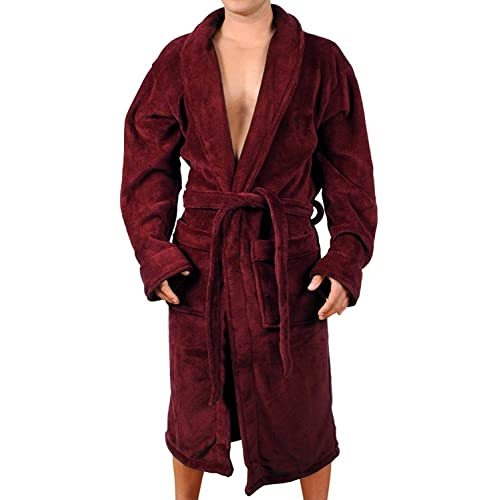 Wanted Men s Lightweight Plush Fleece Shawl Collar Kimono Robe 3ce7babf4