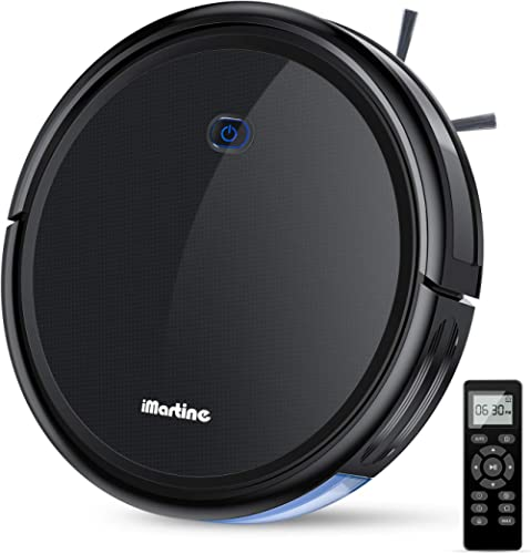 Robot Vacuum Cleaner, iMartine 1600Pa Strong Suction Robotic Vacuum Cleaner, Super-Thin Quiet, Up to 120mins Runtime ...