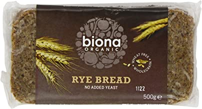 Biona Organic Rye Bread 500 g (Pack of 6)