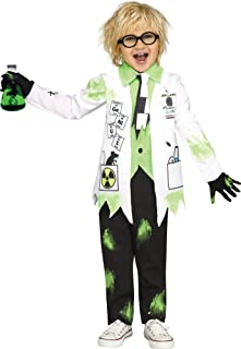 Fun World Mad Evil Scientist Costume for Toddlers Includes Lab Coat, Shirt, Tie & Gloves