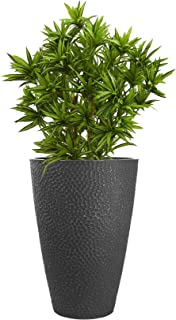 LA JOLIE MUSE Large Outdoor Tall Planter - 20 Inch Tree Planter, Plant Pot Flower Pot Containers with Honeycomb Pattern, C...
