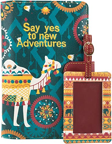 Say Yes To New Adventures Travel Wallet with Luggage Tag