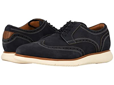Florsheim Fuel Wing Tip Oxford (Indigo Nubuck w/ White Sole) Men