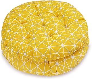 HomeMiYN Patio Decorative Round Indoor Chair Pad Set of 2 Bistro Chair Cushion 17.5×17.5 inch