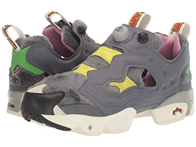 Reebok Lifestyle Tom and Jerry Instapump Fury OG (Cold Grey/Hero Yellow/Black) Shoes