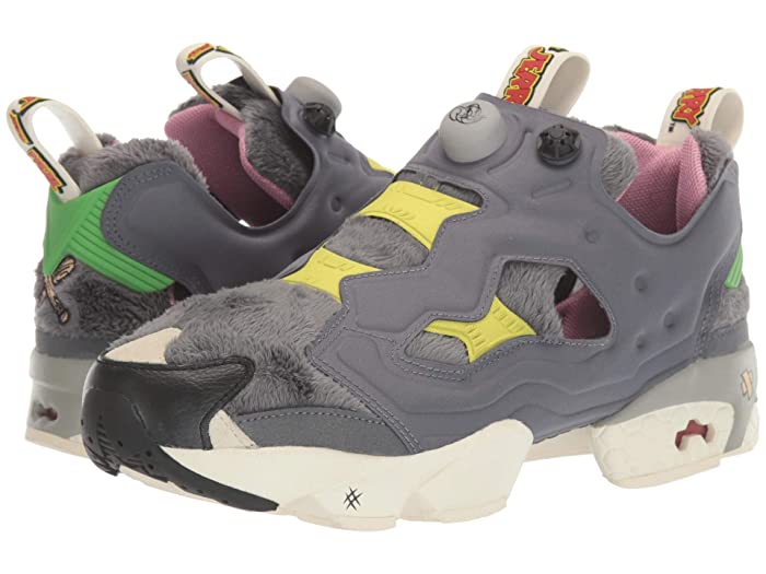 Reebok Lifestyle  Tom and Jerry Instapump Fury OG (Cold Grey/Hero YellowithBlack) Shoes
