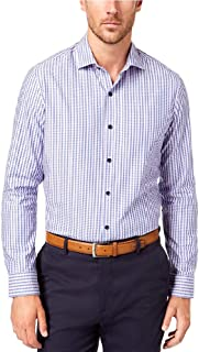 Tasso Elba Men's Tortelli Dobby Striped Shirt Lavender Combo Medium