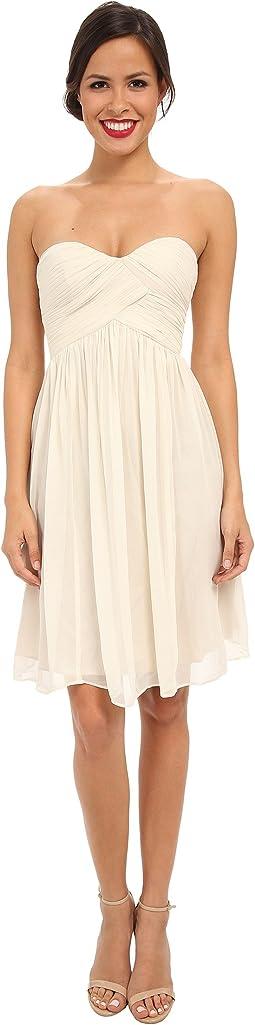 Morgan Short Silk Chiffon Strapless Dress
