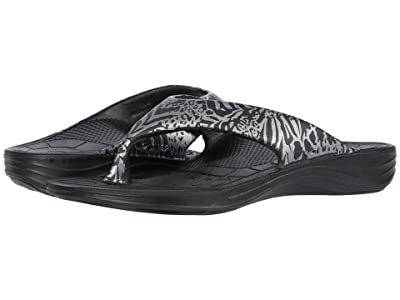 Aetrex Maui Safari Print (Black) Women