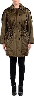 Women's Tibet Lamb Fur Detachable Vest Anorak Coat US 6 IT 40 Green