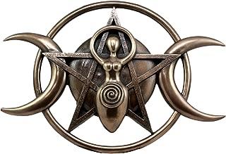 Ebros Neopagan Shaman Spiral Goddess Wall Decor Lunar Triple Goddess Wicca Wall Plaque Figurine Holy Trinity Wiccan Abstract 3D Art Sculpture