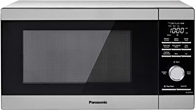 Panasonic NN-SD67LS Countertop Microwave Oven, 1100 Watt with Genius Sensor Cook and Auto Defrost, 1.3 cft, Popcorn Button Stainless Steel (Renewed)