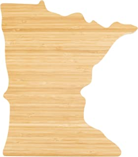 Island Bamboo USA Minnesota State Shaped Cutting Board - Perfect Gift for Women, Kitchen Decor, Cheese Board, or Serving Platter