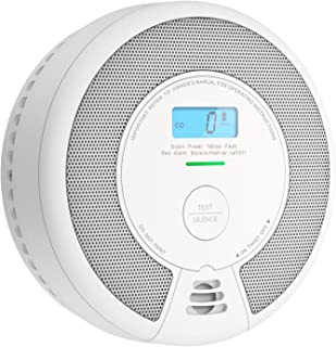 X-Sense 10-Year Battery (Not Hardwired) Combination Smoke & Carbon Monoxide Alarm Detector with LCD Display, Compliant wit...