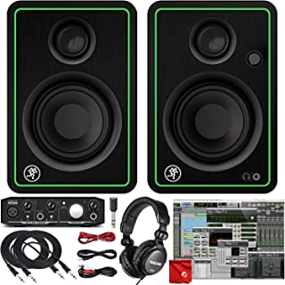 Mackie CR3-X 3-Inch Creative Reference Multimedia Monitors Bundle with Mackie Onyx Artist 1-2 USB Audio Interface, Pro Too...