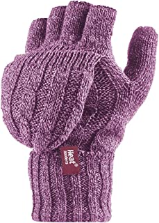 Women's Thermal Converter Fingerless Cable Knit 2.3 Tog Gloves - One Size