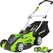 Best green battery lawn mower Reviews