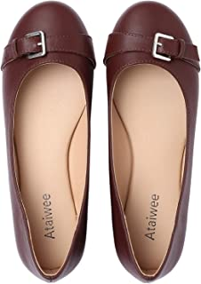 Ataiwee Women's Ballet Flats - Classic Simple Casual Cute Slip-on Walking Shoes.