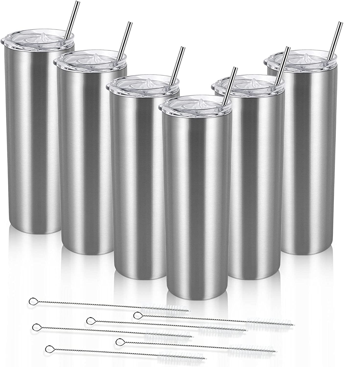6 Pack Skinny Travel Time sale w Steel Super beauty product restock quality top Tumblers Stainless