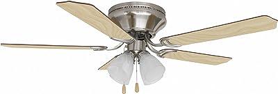 """Litex SCH52BNK5L Schuster Ceiling Fan, 52"""", Brushed Nickel"""
