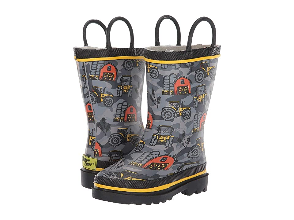 Western Chief Kids Limited Edition Printed Rain Boots (Toddler/Little Kid/Big Kid) (Farmhand Charcoal) Kids Shoes