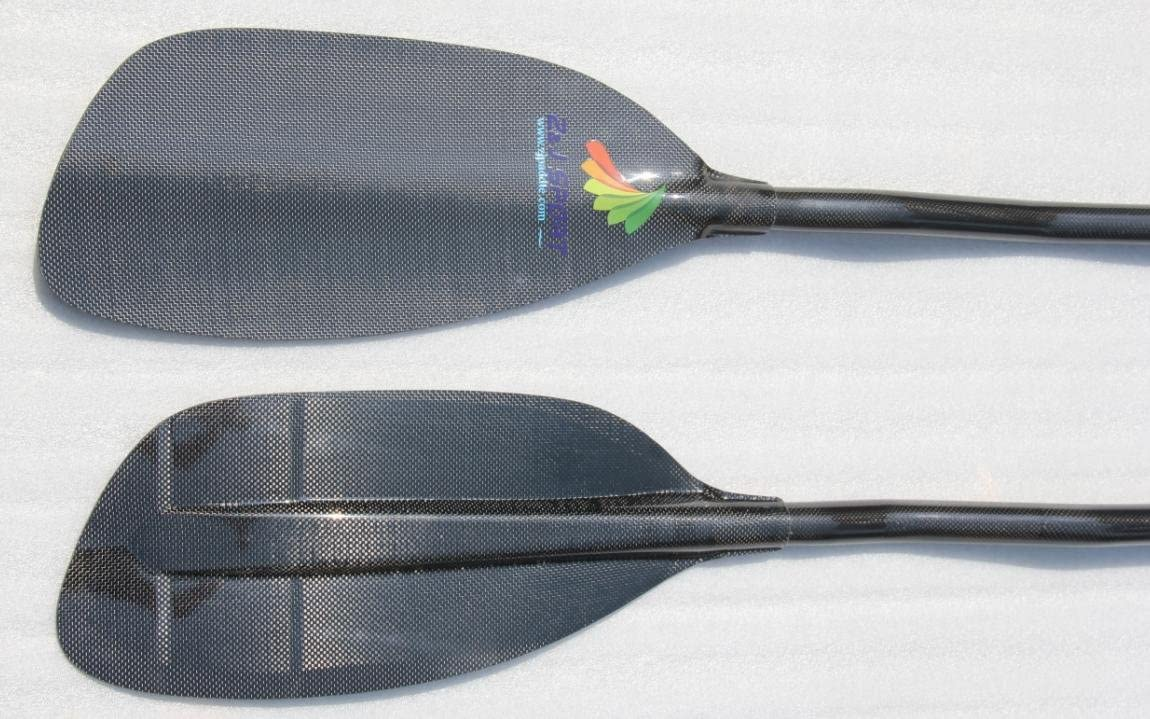 ZJ Sport High Performance Full Carbon Fiber Whitewater Paddle with Carbon Straight and Cranked Shaft