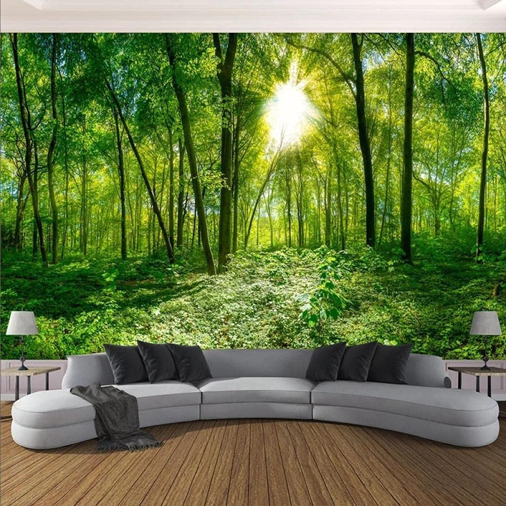 Custom Any Size Cheap mail order sales Mural Wallpaper Landscape Nature Green Special Campaign 3D Forest