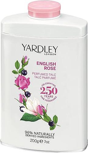 Yardley of London English Rose 7.0 oz Perfumed Talc, clean (Y6320018-6)