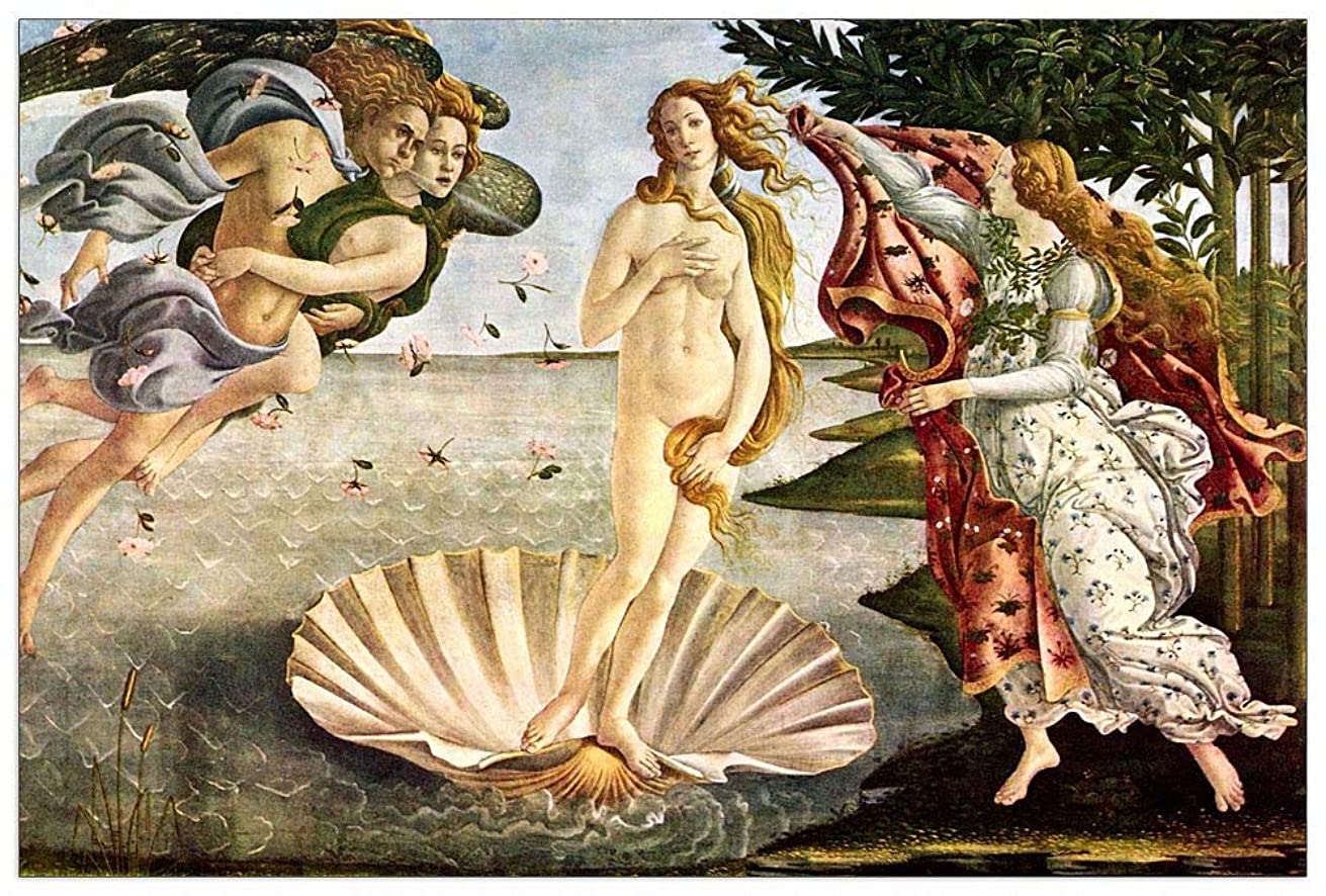 ArtPlaza TW93256 Botticelli Sandro - Birth of Venus Decorative Panel 39.5x27.5 Inch Multicolored