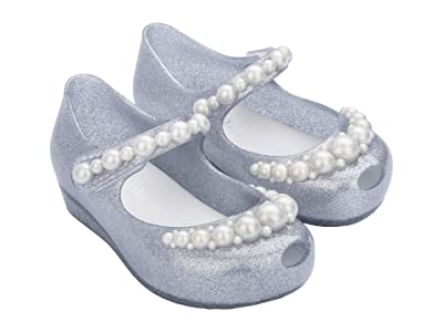 Mini Melissa Ultragirl Girly BB (Toddler/Little Kid) (Silver Glitter) Girl