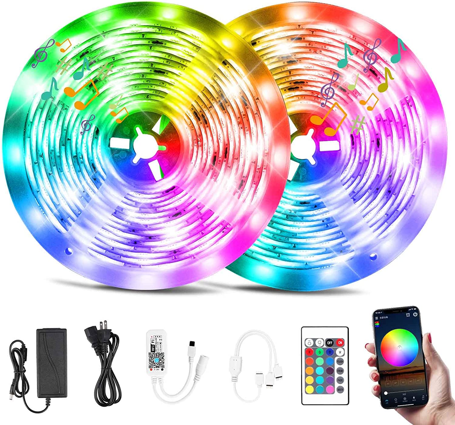 Smart LED Strip Outlet ☆ Colorado Springs Mall Free Shipping Lights 32.8ft WiFi Lig RGB