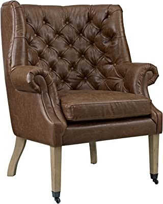 Modern Contemporary Urban Design Living Lounge Room Lounge Chair, Brown, Faux Leather