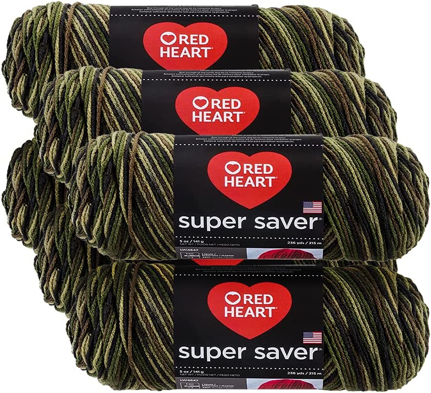 Red Heart Manufacturer OFFicial shop Camouflage Fixed price for sale Super Saver Yarn Pack Pk 6